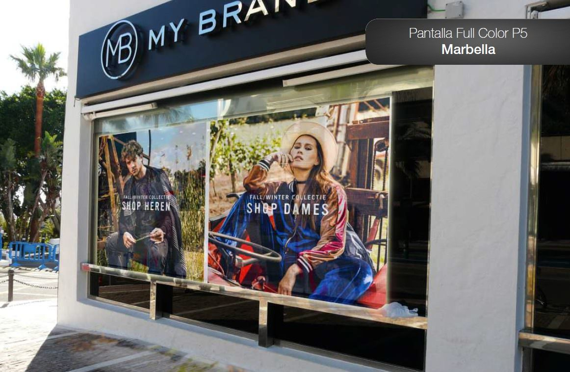 Pantalla Led para escaparate – My Brand Marbella